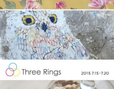 2015.7.15(水)-7.20(月) Three Rings 小名木美緒、オオサキケイ、奥山加奈子