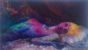 立花清美 「ある少女の死」 Ca.1940H1120W1Dcm キャンバスに油彩