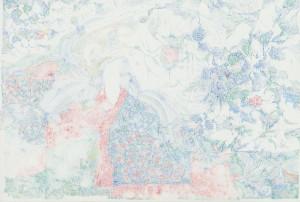 春田紗良「薔薇(おとめ )」Ca.20H28.5W0.1Dcm 紙に色鉛筆