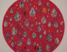 2016.8.10(水)〜8.22(月) 上西慶子絵画展 新作 まるとだえん 雨つぶのヨーヨー