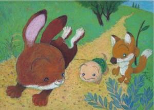 「ウサギとカメ」スタート地点