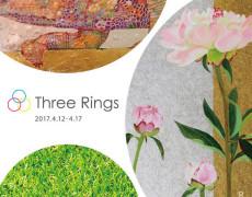 2017.4.12(水)〜4.17(月) Three Rings 小名木美緒,オオサキケイ,奥山加奈子