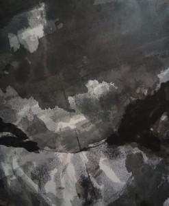 「空」和紙に墨