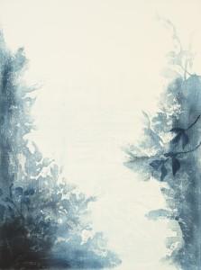 「どこともなくⅢ」 1200×910mm 水性木版、新鳥の子紙