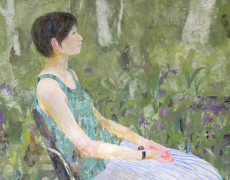 企画:2018.6.13(水) ~ 6.24(日)  いつかの庭-真鍋修日本画展