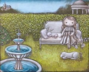 「癒しの庭」220×273キャンバス(F3号)/アクリル