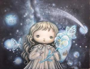 「聖なる子の星への敬意」318×410キャンバス(F6号)/アクリル